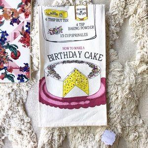 Anthropologie Kitchen Birthday Cake Tea Towel